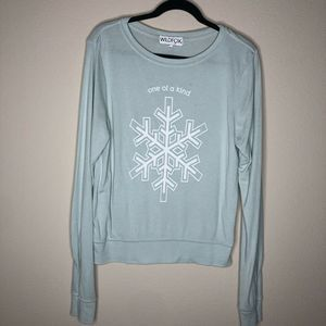 Wildfox One of a Kind Snowflake Crewneck Small